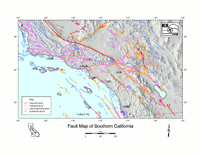 fault map of southern california image